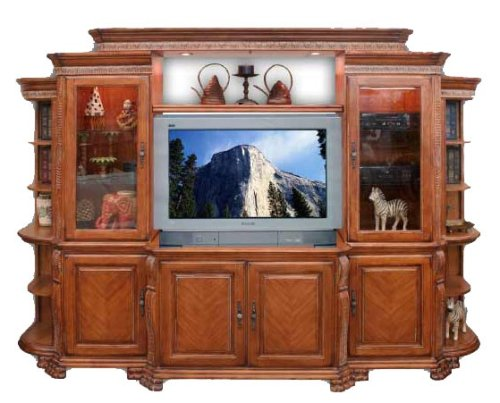 Home Elegance 9040-42 Caspian Collection 6 Pc. Set - TV Stand, Left & Right Side Units, Left & Right