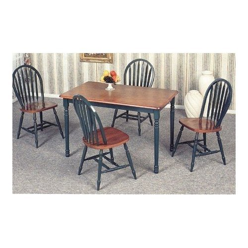 Set of 4 Hunter Green Finish Windsor Dining Side Chairs