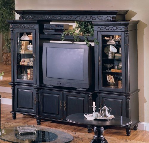 Largo - Heritage Entertainment Center Set 1 in Vintage Black