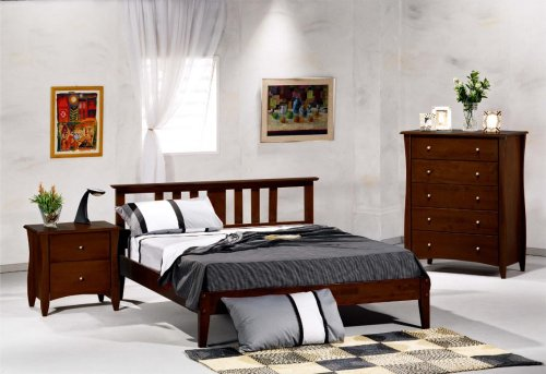 Thyme Queen Bedroom Set w/ Dark Chocolate Finish