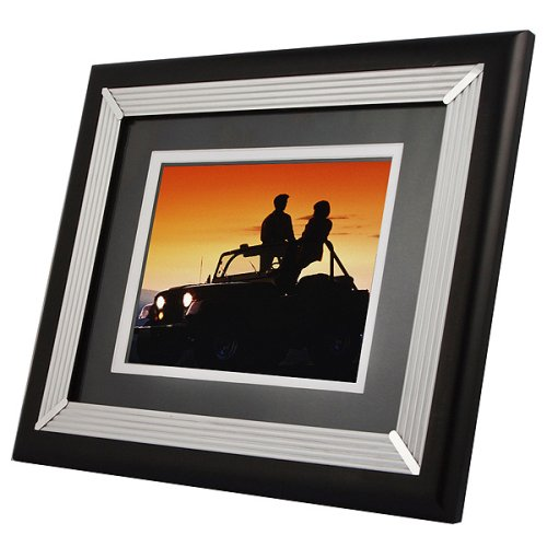 TAO 8-Inch 256MB Double-Matted Modern Digital Frame (Black and Silver)