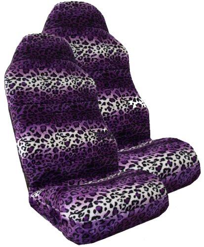 Seat Covers Online Store Safari PURPLE Leopard Print Car