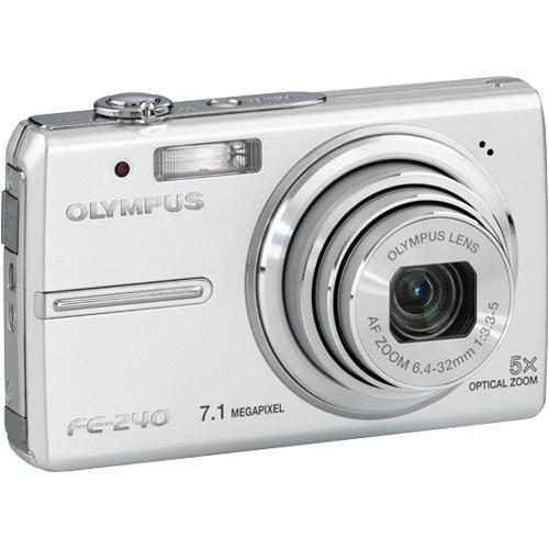 Olympus Stylus FE-240 7MP Digital Camera with Digital Image Stabilized 5x Optical Zoom