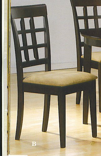 SET OF 2 CHAIRS IN A RICH CAPPUCCINO FINISH