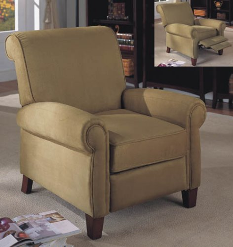 Pure Suede Recliner in Tan