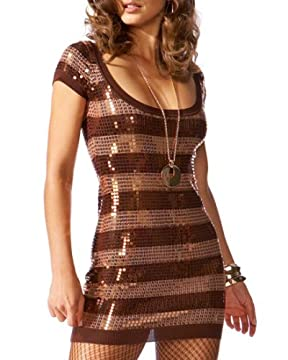 bebe.com : Striped Scoop neck Sequin Dress from bebe.com