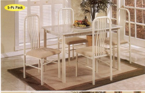 Ivory 5-pc Dinette Set, Table/Chair
