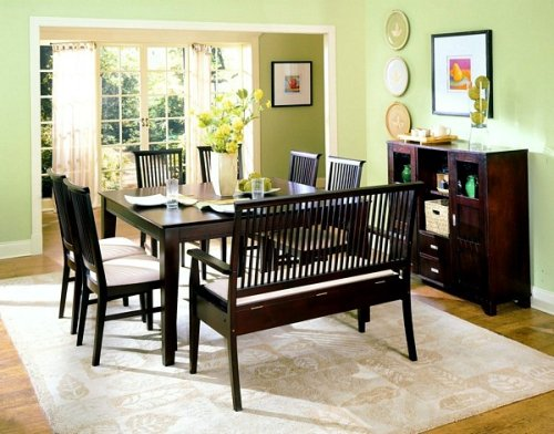 7pc Highlander Collection Solid Wood Dining Table and Chairs Set