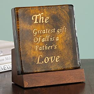 The Bombay Company Store: Father's Plaque on Wooden Stand