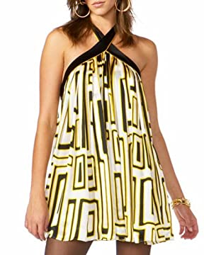 bebe.com : Crinkle Silk Halter Dress