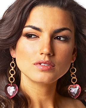 bebe.com : Faceted Heart Earrings from bebe.com