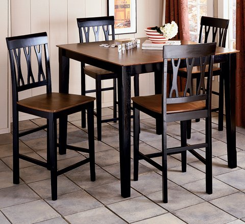 Black 5-Piece Riverview Pub Set