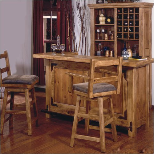 World Concepts Lodge Home Bar Cabinet Set LHR101 Series Bar Set