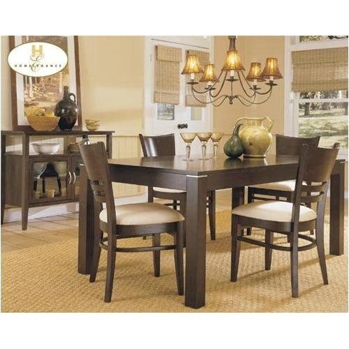 Home Elegance 628-5 5PCS Dark Cherry Dining Set
