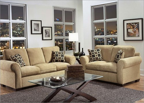 U.F.I 1650-ML Series Manning Lotus 3 pc. Living Room Set