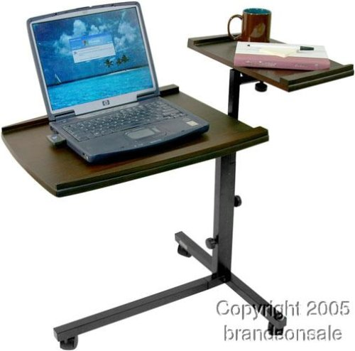 Mobile Laptop Computer Caddie Desk Table