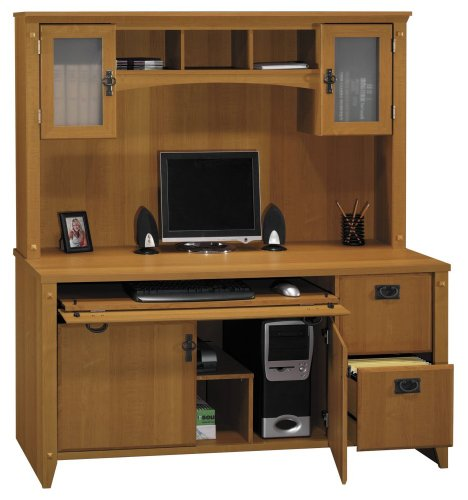 Home office furniture credenza and hutch set mission pointe collection bush office Home furniture on amazon