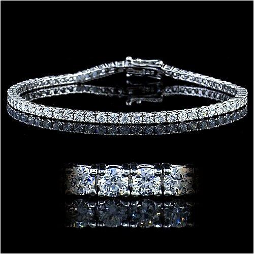 4.5 Carat Sterling Silver CZ Tennis Bracelet