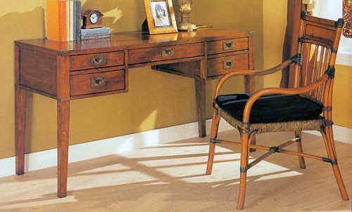 Campaign Style Writing Desk And Chair