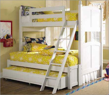 Lea Industries Bunk Bed Complete White Bedroom Set 507 W967R Set