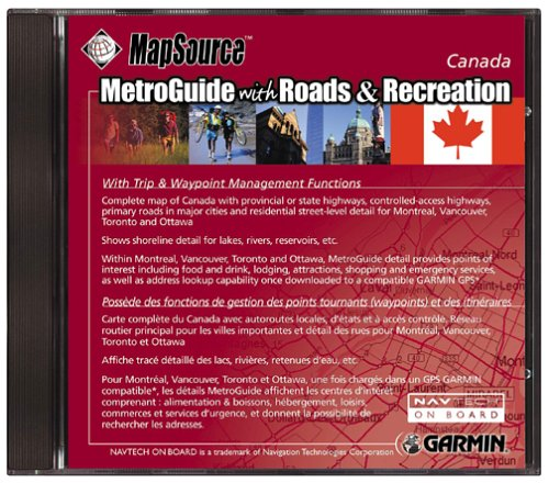 Garmin MetroGuide with Roads and Recreation (Canada)