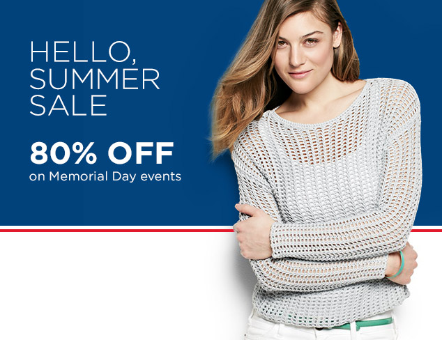 Save 80% OFF Summer Sale On Memorial Day Event + Free Shipping @ MyHabit.com